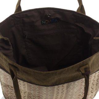 Handcrafted Cotton 'Quiet Maya Earth' Handbag (Guatemala)