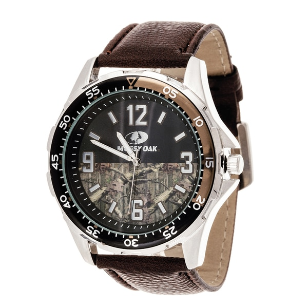 Mossy Oak Men's Analog All Terrain Field Officially Infinity b Frontier Brown Watch