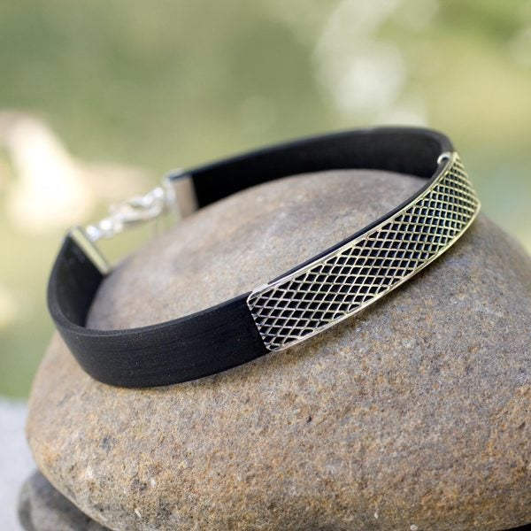 Men's Handcrafted Sterling Silver 'Taxco Gridlock' Bracelet (Mexico)