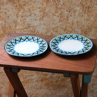 Set of 2 Ceramic 'Owl' Dessert Plates (Guatemala)