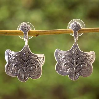 Handcrafted Sterling Silver 'Renewal' Earrings (Mexico)
