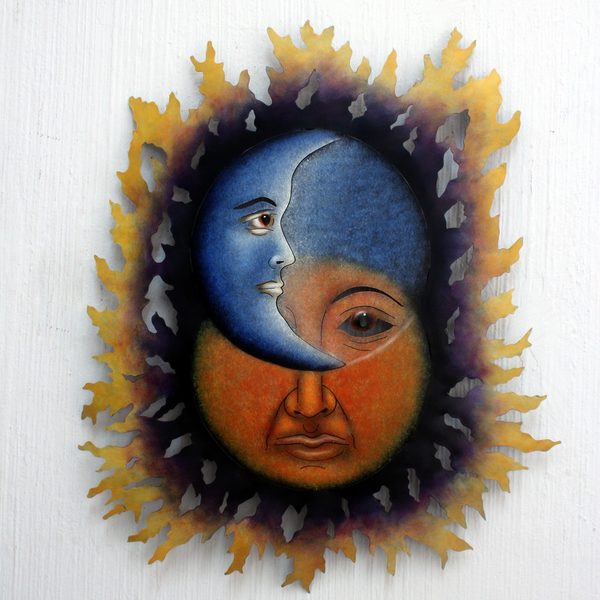 Handcrafted Steel 'Opposites Attract' Wall Art (Mexico)