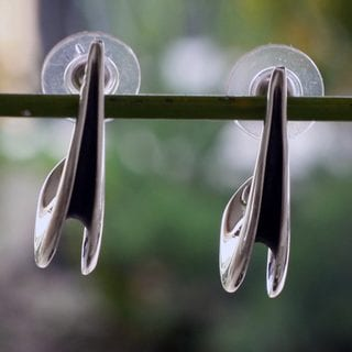 Handcrafted Sterling Silver 'Song of the Sea' Earrings (Mexico)