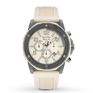 Bulova Men's 98B201 Duramic Cream/ Grey Chronograph Watch
