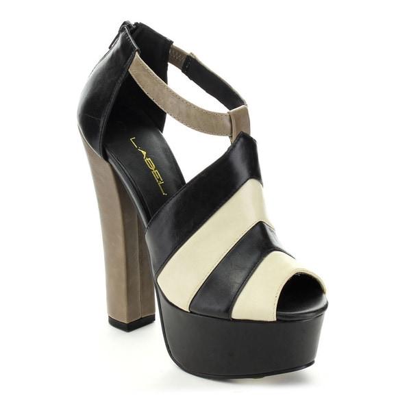 C-Label Women's KALIN-1 Two Tone Platform High Heels