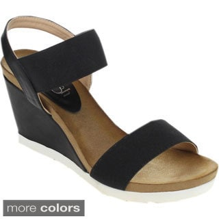 Refresh FRESH-01 Women's Ankle Strap Platform Wedges