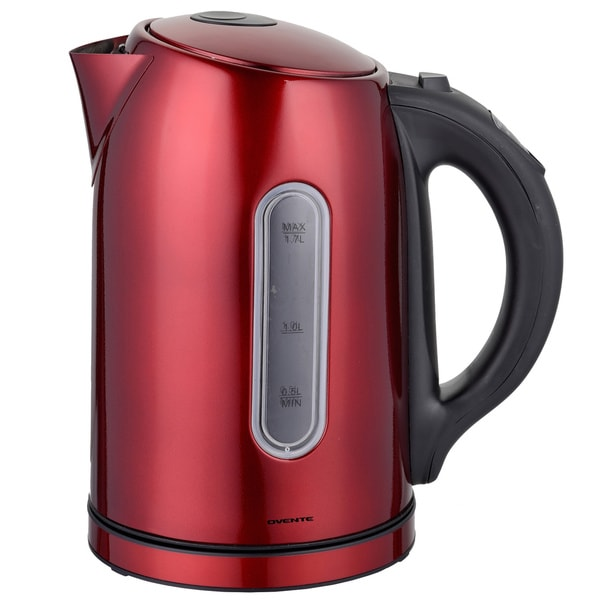 Ovente KS88 Stainless Steel 1.5L Red Digital Kettle