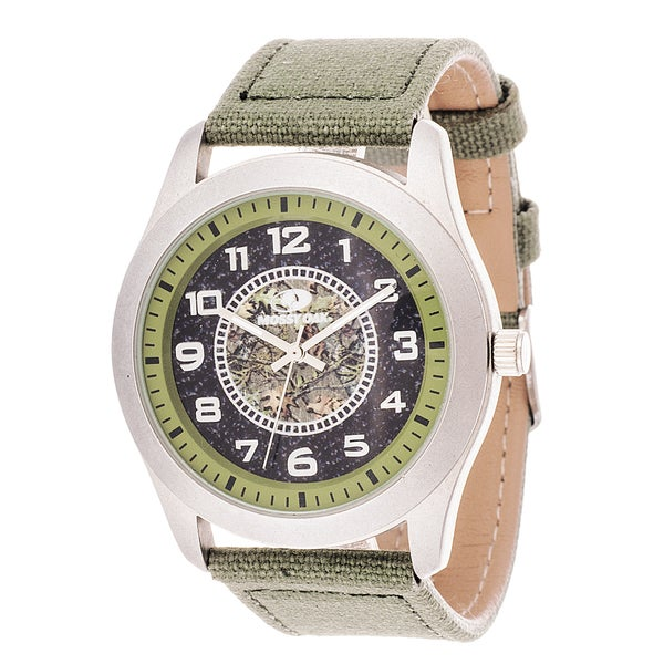 Mossy Oak Men's Analog All Terrain Field Officially Frontier Green Watch