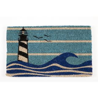 Hand-woven Lighthouse Coconut Fiber Doormat