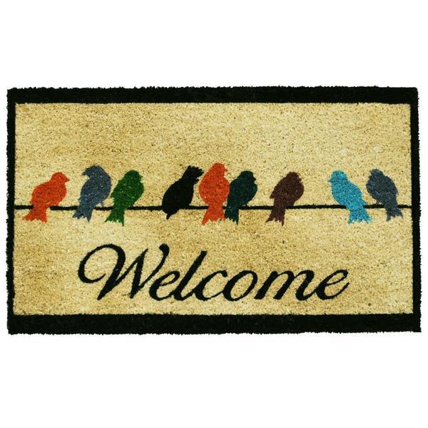 Birds on a Wire Doormat (1'5 x 2'5)
