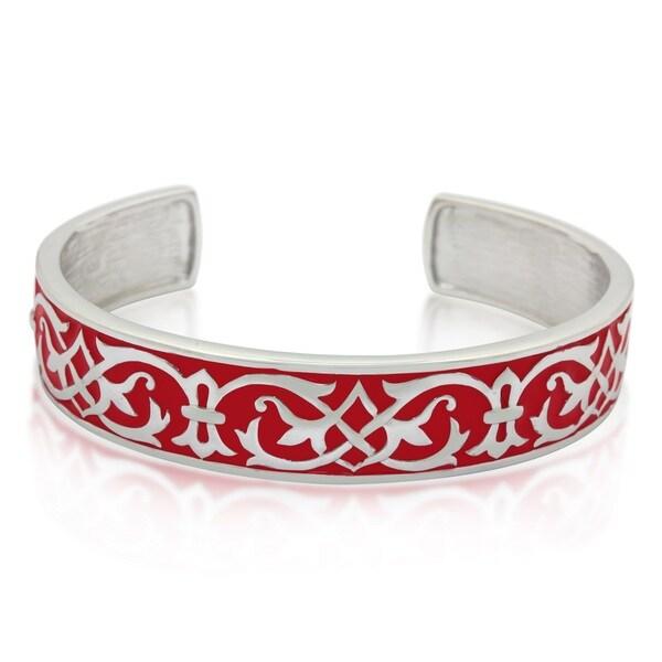 Sterling Silver Enamel Cuff Bracelet