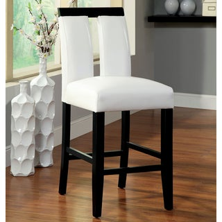 Furniture of America Lumina Two-tone Counter Height Chair (Set of 2)