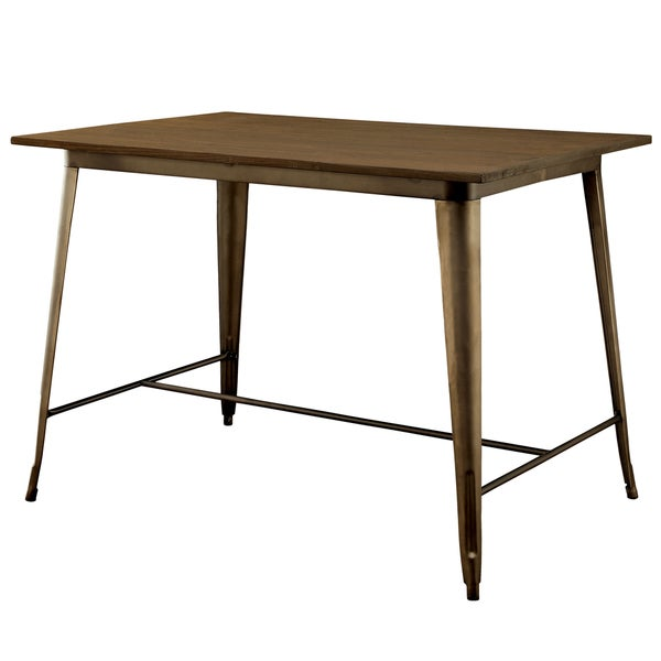 Counter Height Industrial Table : Furniture of America Tripton Industrial Counter Height Dining Table ...