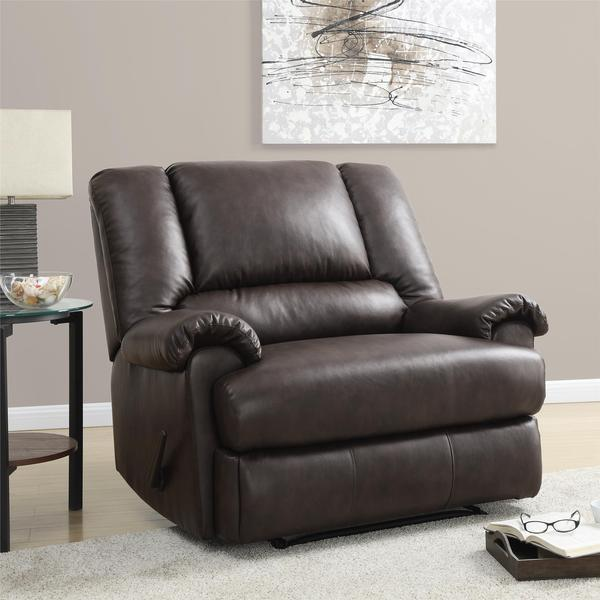 Dorel Living Stanford Faux Leather Recliner Chair