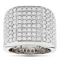 14k Gold 4 1/2ct TDW Diamond Men's Ring (G-H, VS1-VS2)