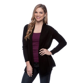 Chelsea & Theodore Women's Open-front Cashmere Cardigan