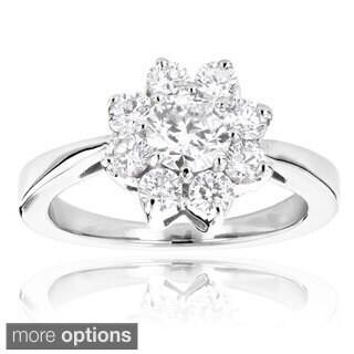 14k Gold Unique Flower 1.3ct Diamond TDW Engagement Ring (G-H, VS1-VS2)