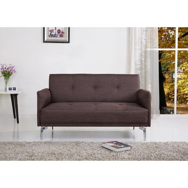 Emma Fabric Modern Loveseat Overstock Shopping Great Deals On Sofas Loveseats