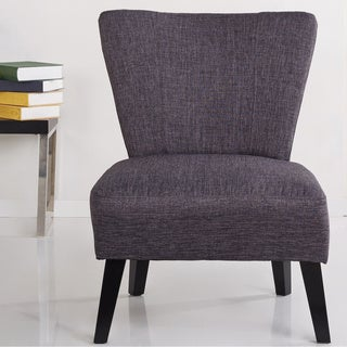 Alice Solid-color Fabric Accent Chair