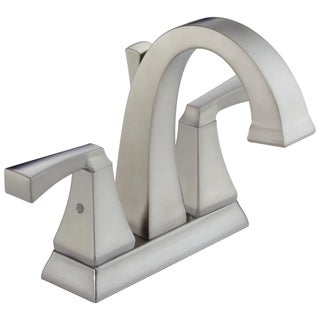 Delta Brilliance Stainless Dryden 2-handle Centerset Lavatory Faucet