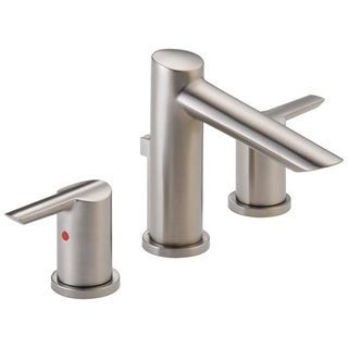 Delta Brilliance Stainless Compel Widespread Bath Faucet with Metal Pop-up