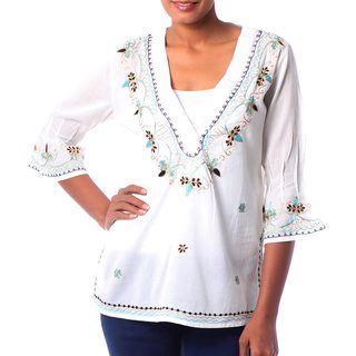 Hand-crafted 'Rajasthani Muse' Cotton Tunic (India)