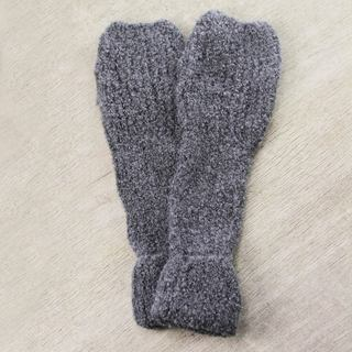 Handcrafted Alpaca Blend 'Steel Warmth' Fingerless Mitts (Peru)
