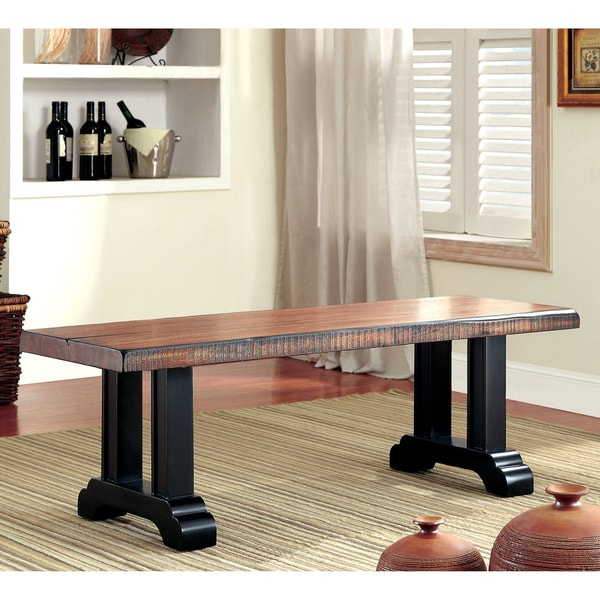 Furniture of America Dickens Rustic Kitchen Bench
