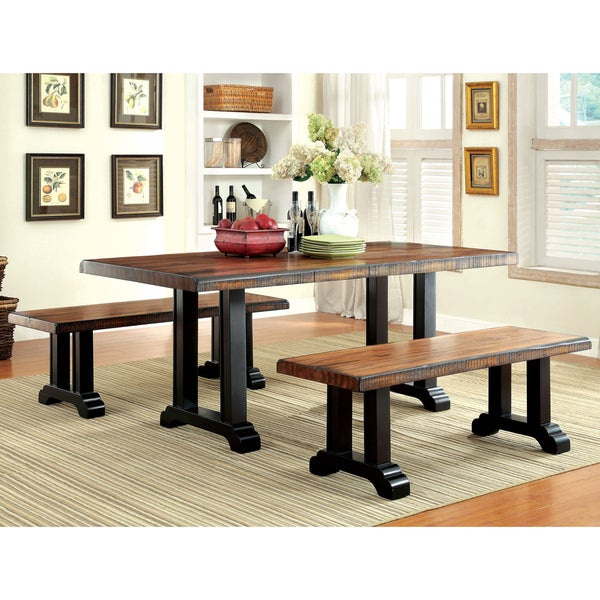 Furniture of America Dickens Rustic Dining Table