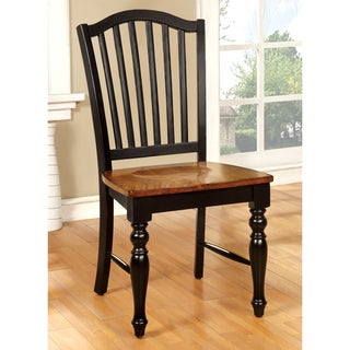 Furniture of America Levole Two-tone Country Style Dining Chair (Set of 2)