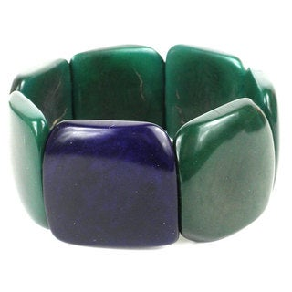 Accented Tagua Bracelet Hunter Green (Ecuador)