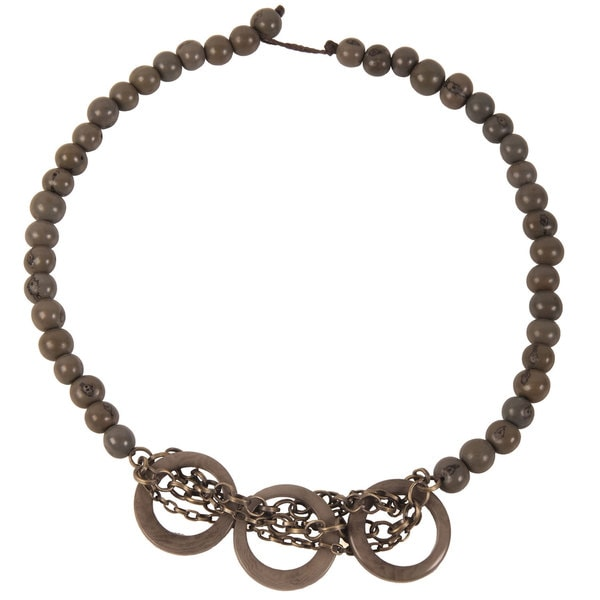 Global Crafts Grey Circle Chain Choker (Ecuador)