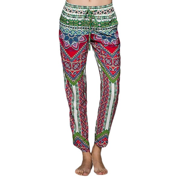 Tabeez Women's Printed Drawstring Pants