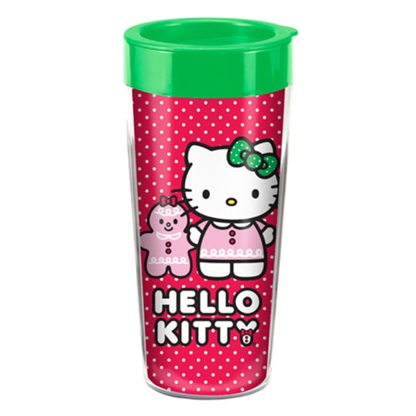 Hello Kitty Holiday Travel Coffee Mug with Lid