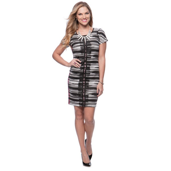 Marc New York Women's Multicolor Striped Shift Dress