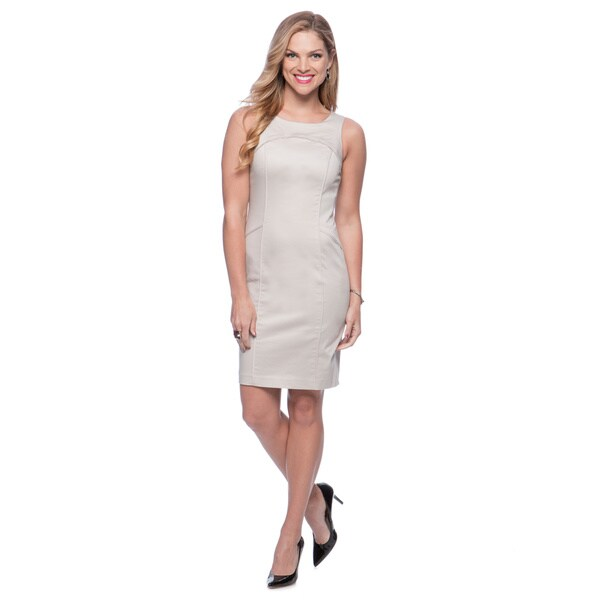 Marc New York Clay Bateau Neck Sheath Dress