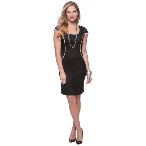 Marc New York Black Scoop-neck Sheath Dress