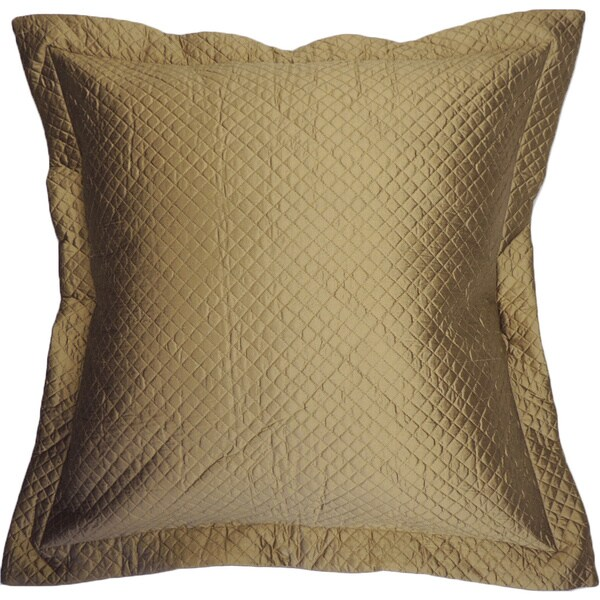 Gold Quilted Silk Euro Sham