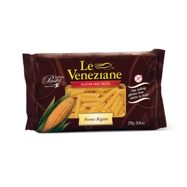 Le Veneziane Corn Pasta 8 ounces Penne Rigate (2 Pack)