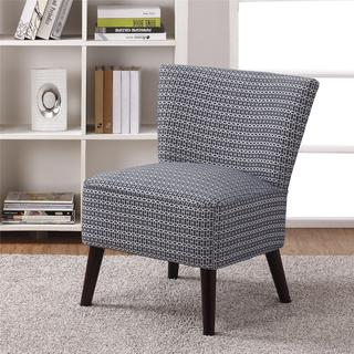 Dorel Living Kinsley Armless Blue Patterned Accent Chair