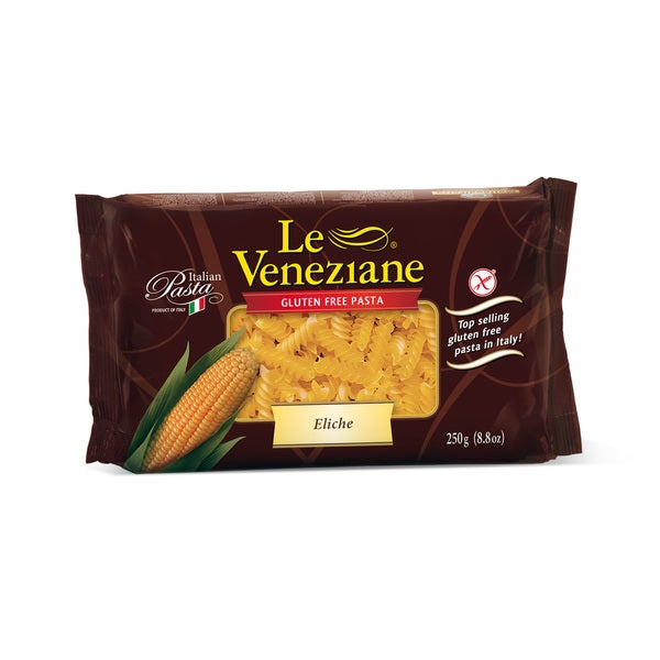 8-ounce Le Veneziane Corn Pasta Eliche (Pack of 2)