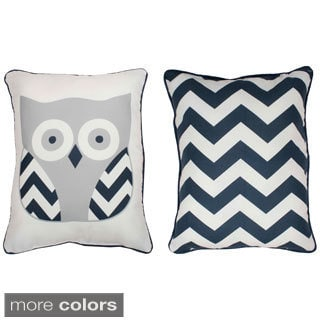 Thro Reversible Tootsie Owl Throw Pillow
