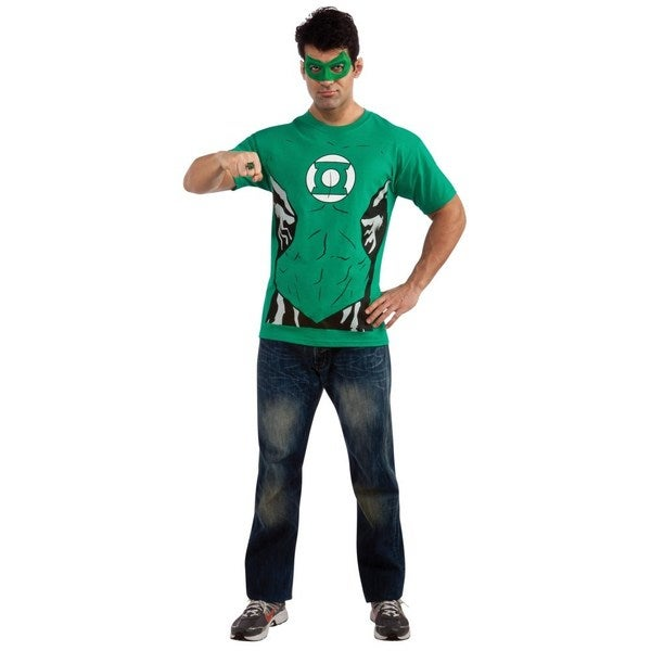 Green Lantern Adult T-shirt Costume Kit