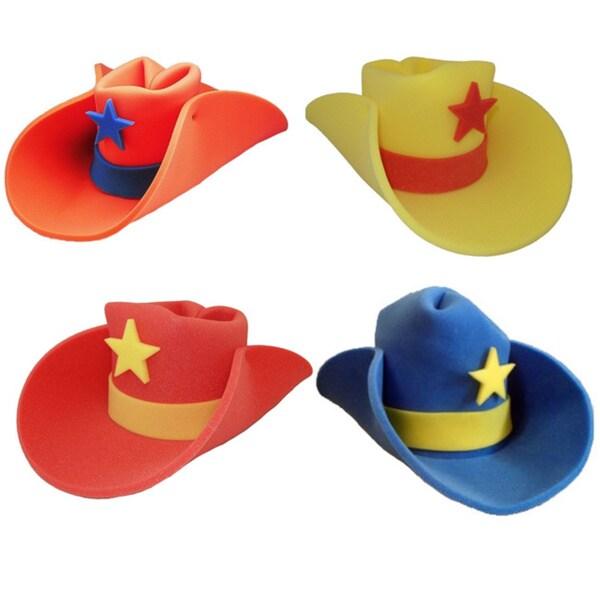Uncle Sam Foam Hat 10 Gallon Cowboy Hat Front