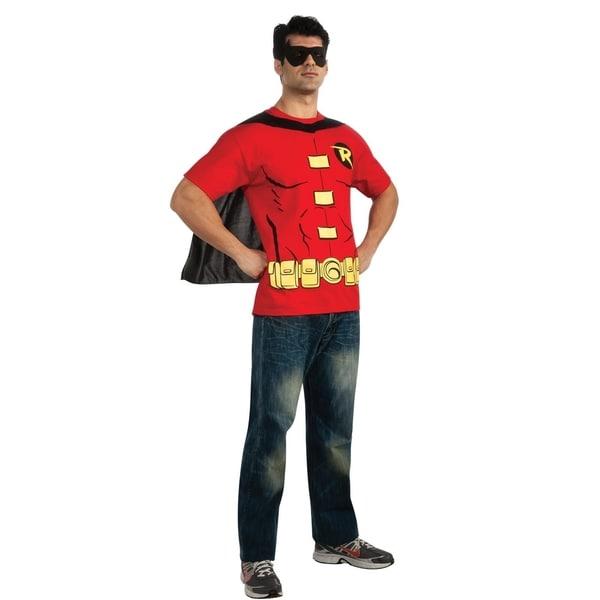 Superhero Sidekick Robin Adult T-shirt Costume Kit