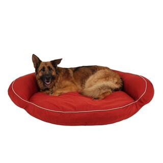 Carolina Pet Co. Classic Cotton Canvas Bolster Dog Bed