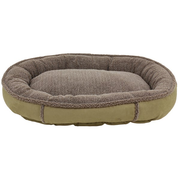 Carolina Pet Co. Comfy Cup Faux Suede Round Bolster Dog Bed