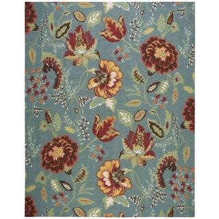 Nourison Vista Blue Polyester Rug (8' x 10')
