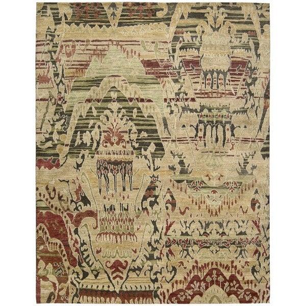 Nourison Dune Earth Wool Area Rug (5'6 x 8')
