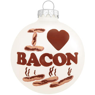 'I Love Bacon' Christmas Tree Ornament